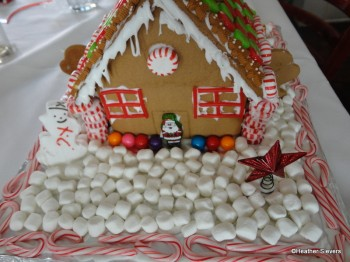 Our Finished Gingerbread House: Backyard