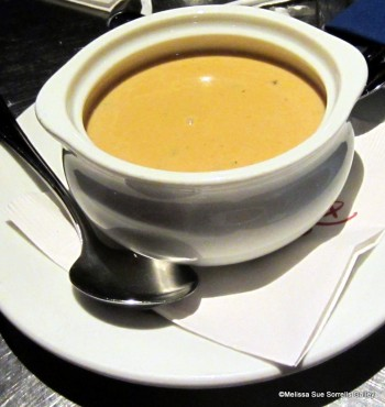 A bowl of Creamy Lobster Soup