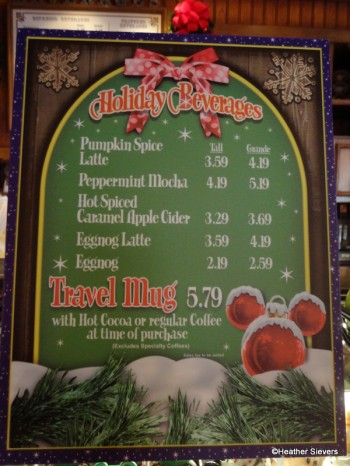 Holiday Beverage Menu
