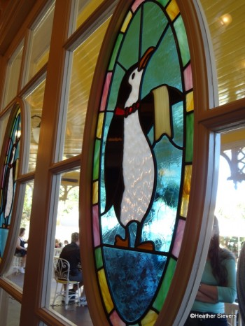 Stained Glass Penguin Window Inside View