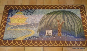 "Jolly Holiday ""Chalk Painting"" Floor Mosaic"