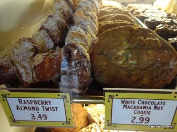 Rasberry Almond Twist & White Chocolate Macadamia Nut Cookie