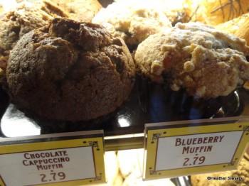 Chocolate Cappuccino Muffin & Blueberry Muffin