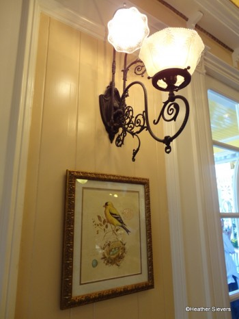 Wall Sconce & Art: A Robin Feathering His Nest, Has Very Little Time to Rest....