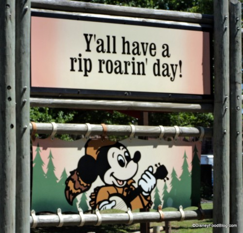 Sign at Mickey's Backyard BBQ