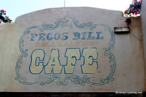 Pecos Bill Sign