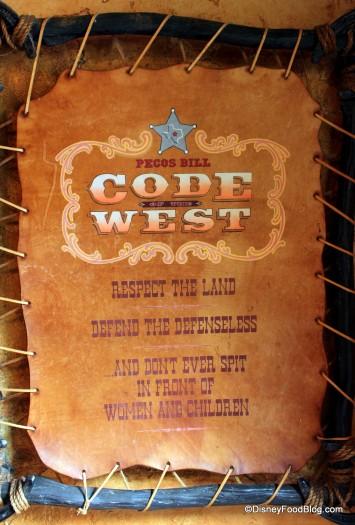 Pecos Bill's Code of the West