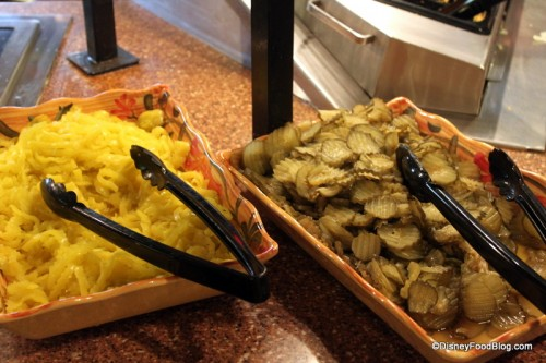 Peppers and Pickles at Pecos Bill's Condiment Bar