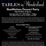 Tables in Wonderland: March 2012 Events