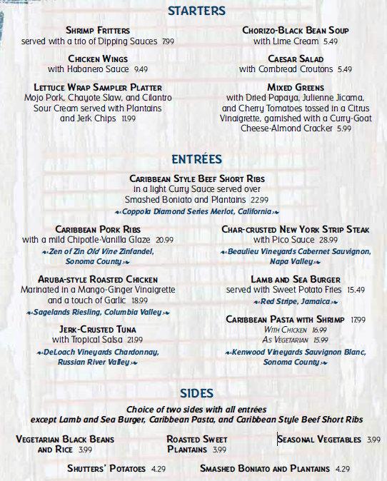 Review Shutters Restaurant At Disneys Caribbean Beach Resort