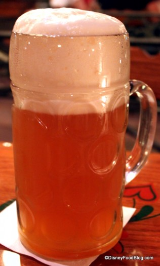 Liter of Beer at Biergarten