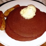 Limited Time! Red Velvet Pancakes with Cream Cheese Topping at Kona Cafe