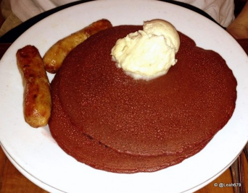 Valentine's Day Treat: Red Velvet Pancakes at Kona Cafe