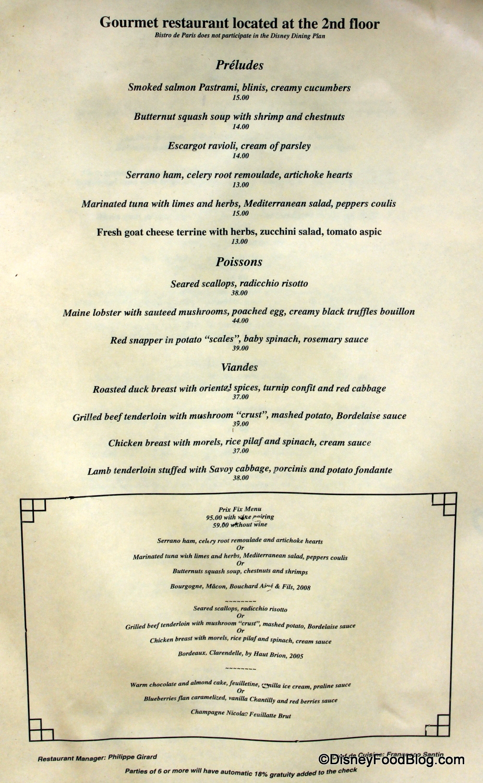 Prix Menus Restaurant La Maree