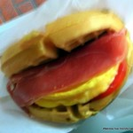 New! Breakfast Waffle Sandwich at Sleepy Hollow