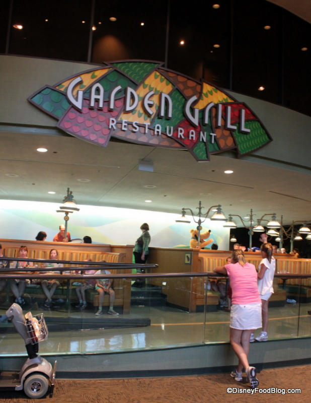 review epcot s garden grill restaurant the disney food blog