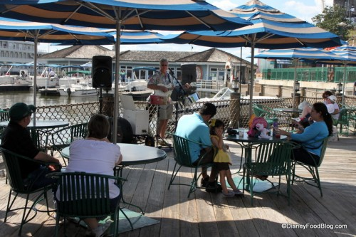 Seating and Live Music at the Old Spot