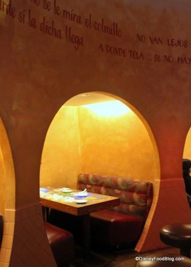 Quiet Alcove Seating Near the Bar