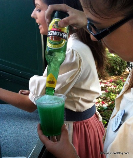 Green Cider in Epcot for St. Patrick's Day