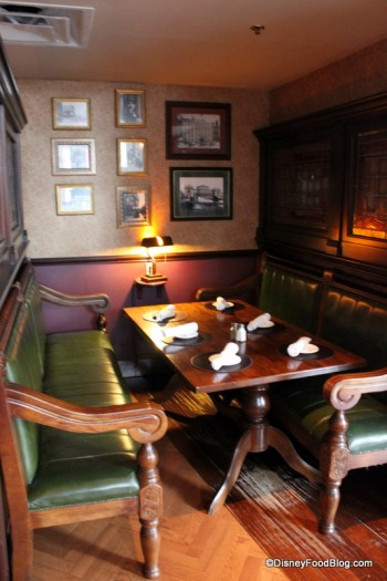 Booth Table in a Cozy Alcove
