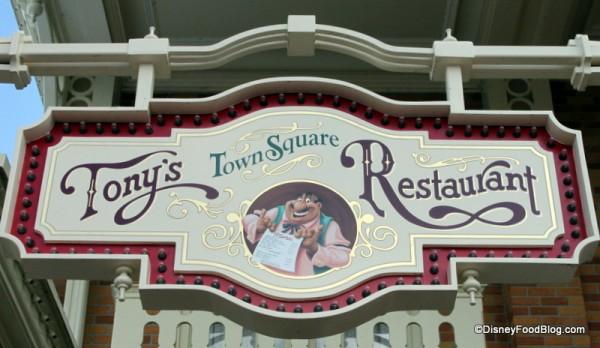 Tony's Sign