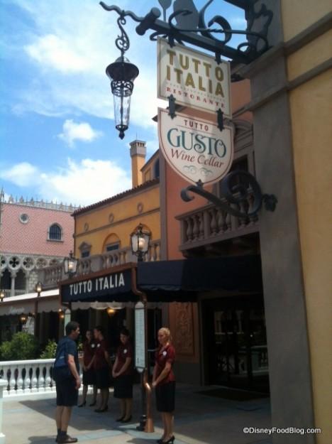 Review tutto italia in epcot s italy pavilion the for Tutete italia