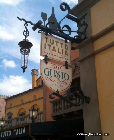 Review tutto gusto wine cellar in epcot 39 s italy pavilion for Tutete italia