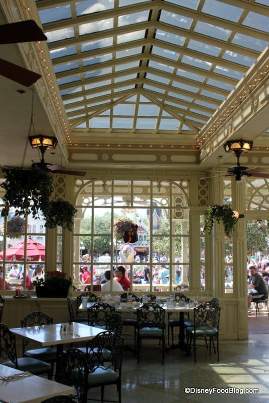 Indoor Sunroom Looking To Outdoor Patio The Disney Food Blog