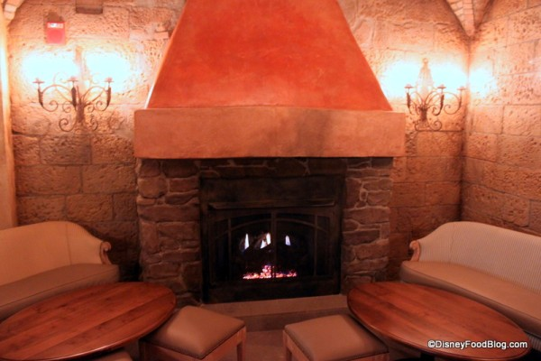 Fireplace Area Seating at Tutto Gusto