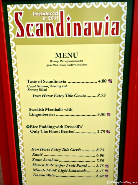 2012 Scandinavia Marketplace Booth Menu - Click for larger image