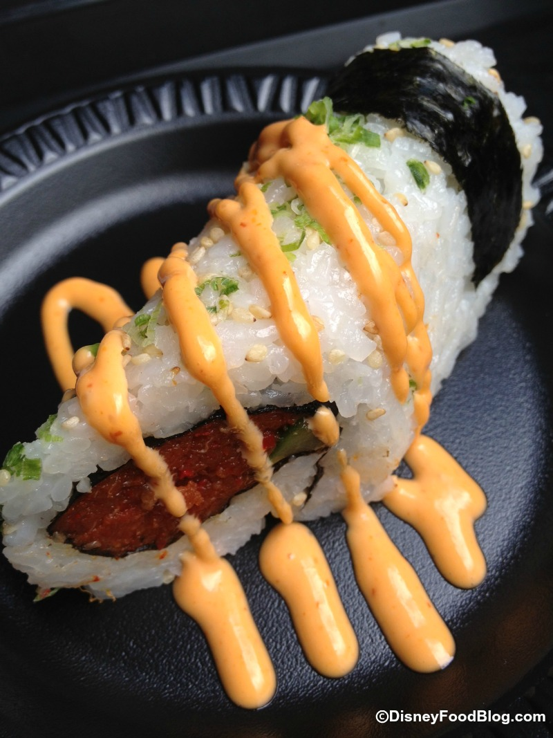 Spicy Hand Roll (Tuna & Salmon with Chili Pepper, Soy Sauce & Sesame ...