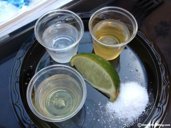 Tequila Flight: Tequila Blanco, Reposado, and Anejo