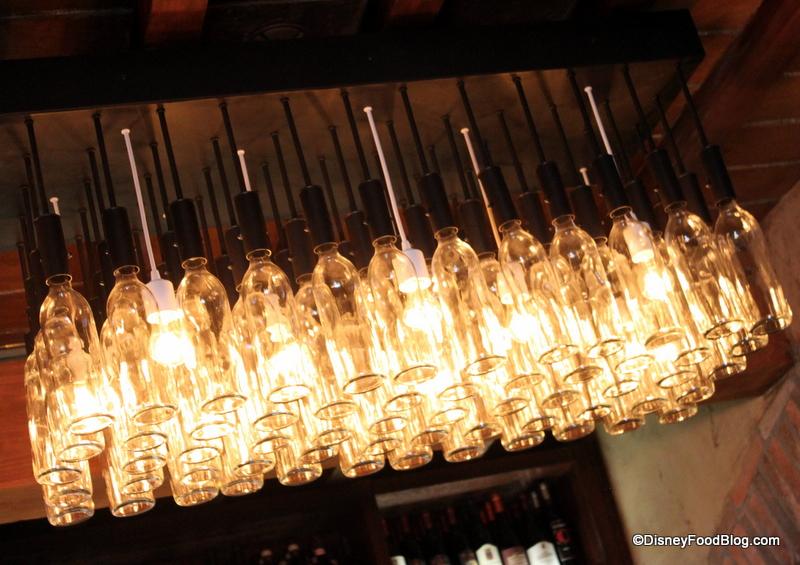 May 2015 the disney food blog part 6 wine bottle lighting aloadofball Choice Image