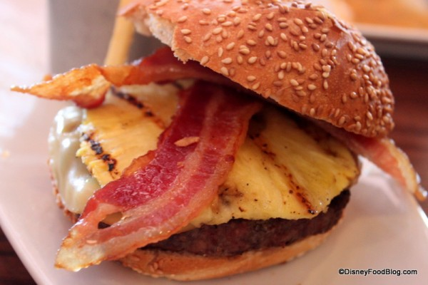 Pineapple Bacon Burger Close-Up
