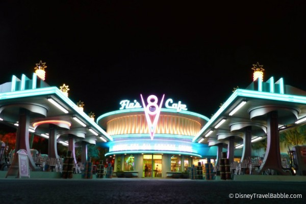 Flo's Really Shines at Night!