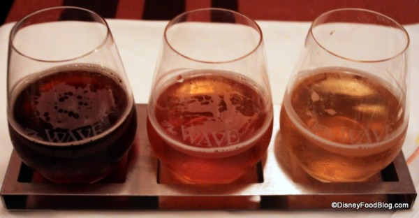 Beer Flight at The Wave