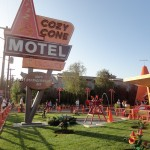Cars Land First Look! Sally's Cozy Cone Motel in Disney California Adventure