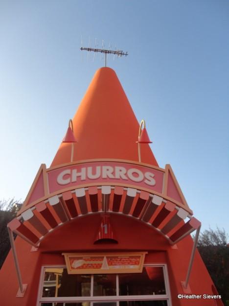 Churro Cone at the Cozy Cone Motel in Cars Land