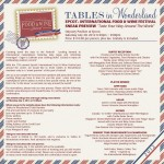 News! Tables in Wonderland Food and Wine Festival Sneak Preview Event