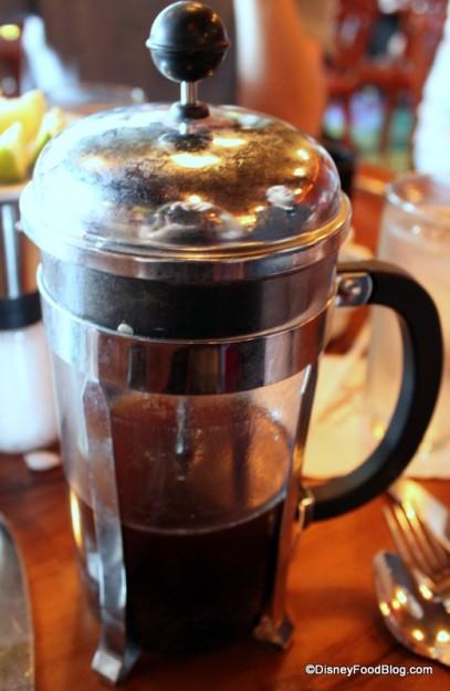 French Press of Kona Coffee