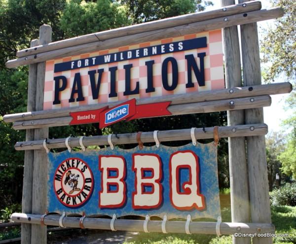 Mickey's Backyard BBQ sign