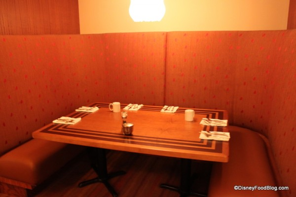 Secluded Booths