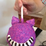 First Look! The Cheshire Cat Caramel Apple in Disneyland