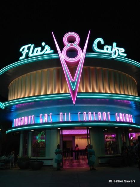 Flo's V-8 Cafe Neon in Disney California Adventure
