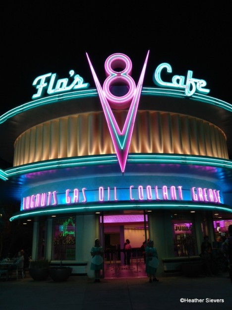 Flo's V-8 Cafe Neon in Disney California Adventure