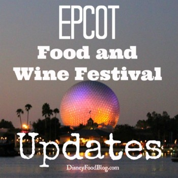 Food and Wine Festival Updates