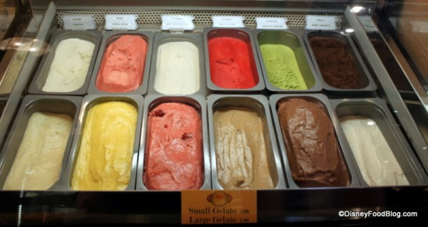 Gelato Flavors and Pricing at Cafe Rix