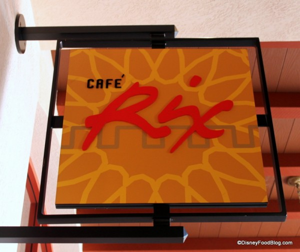 Cafe Rix Sign