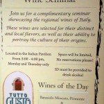 News! Tutto Gusto Wine Cellar Offers Complimentary Wine Seminars