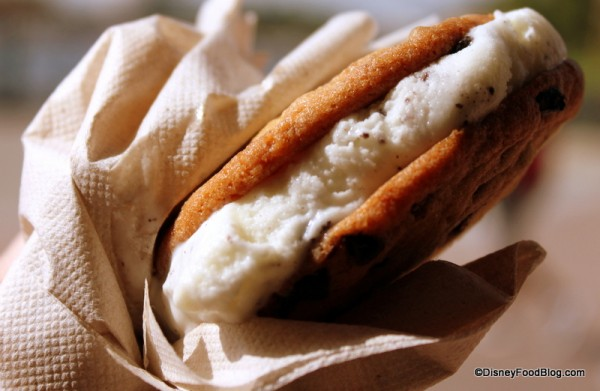 Custom-Made Gelato Cookie Sandwich -- Up Close